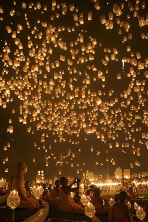 lacher de lanternes pour mon mariage