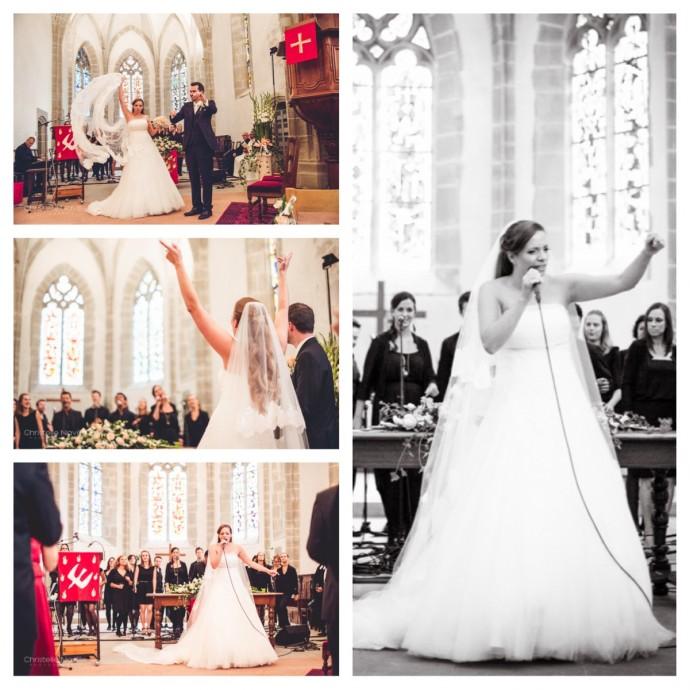 mariage nick nicky gospel chant ceremonie