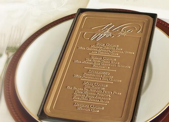 menu chocolat mariage gourmandise