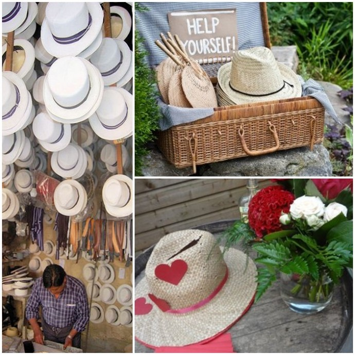 montage chapeau panama mariage latino