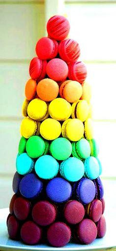 pyramide macarons mariage gourmandise