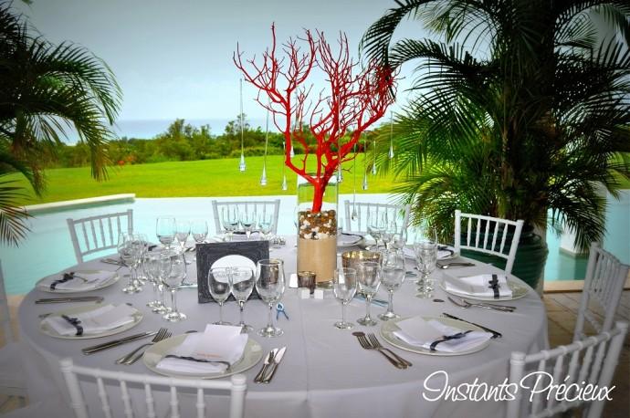 table mariage caraibes