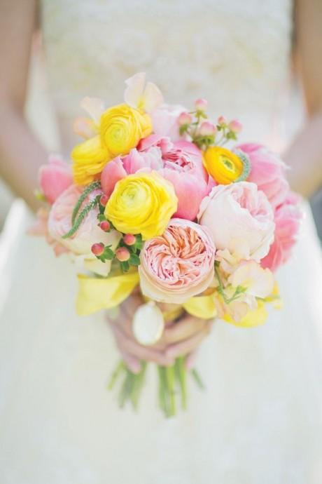 bouquet de mariee roses