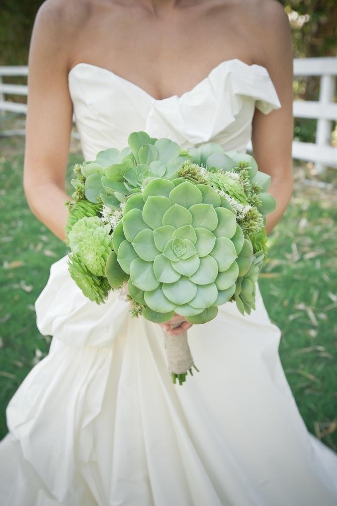 Un bouquet sans fleur ou presque pour mon mariage for Bouquet de fleurs vertes