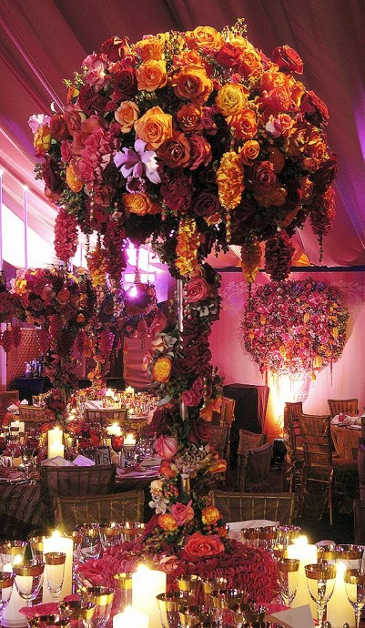 centre de table impressionant dans un mariage