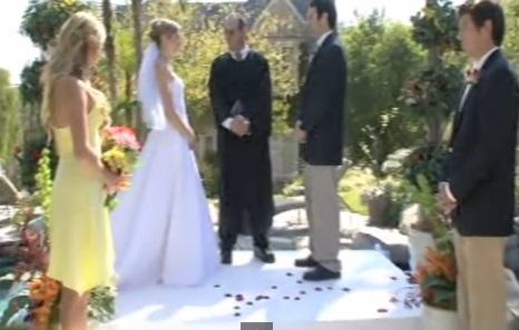 ceremonie de mariage keith chloe temoin