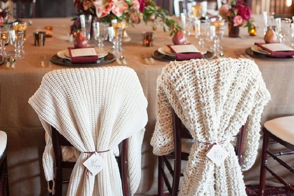 deco chaise repas mariage tricot