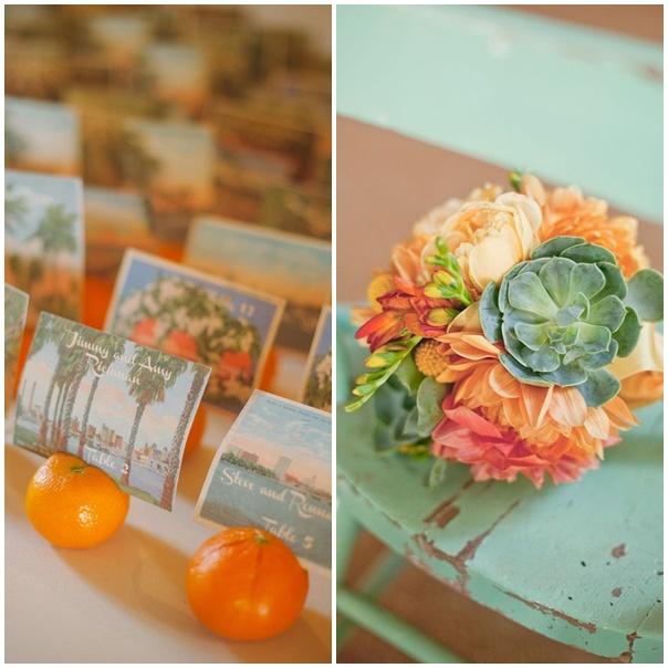 Je veux un mariage peps couleur tangerine - Mariage.com
