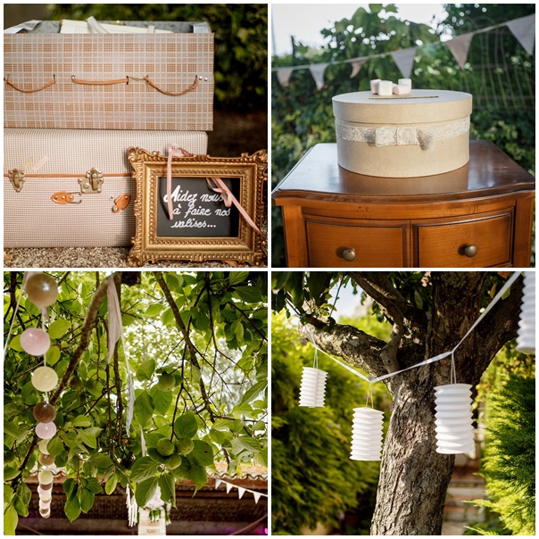decor retro chic theme mariage