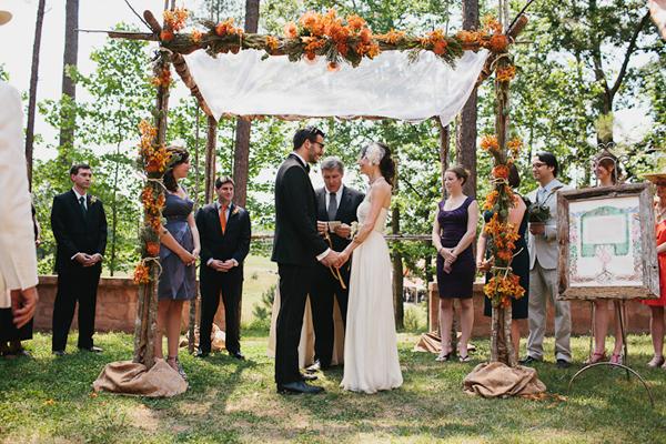 des fleurs oranges pour mon mariage