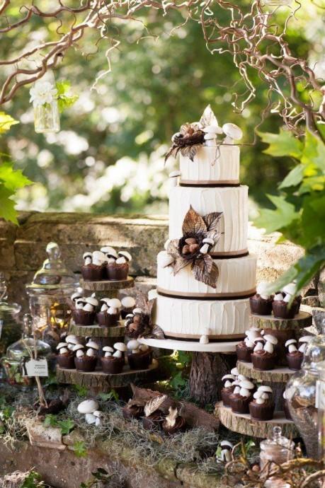 gateau theme mariage fees des bois