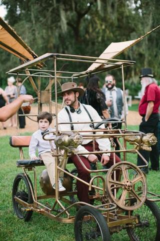 invités mariage steampunk