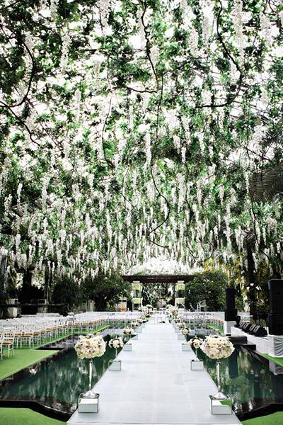 jardin enchante pour ceremonie de mariage photo de axioo photography