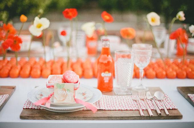 Je veux un mariage pep's couleur tangerine