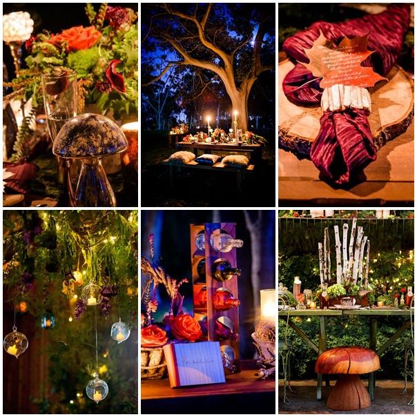 montage decoration de table mariage fees des bois