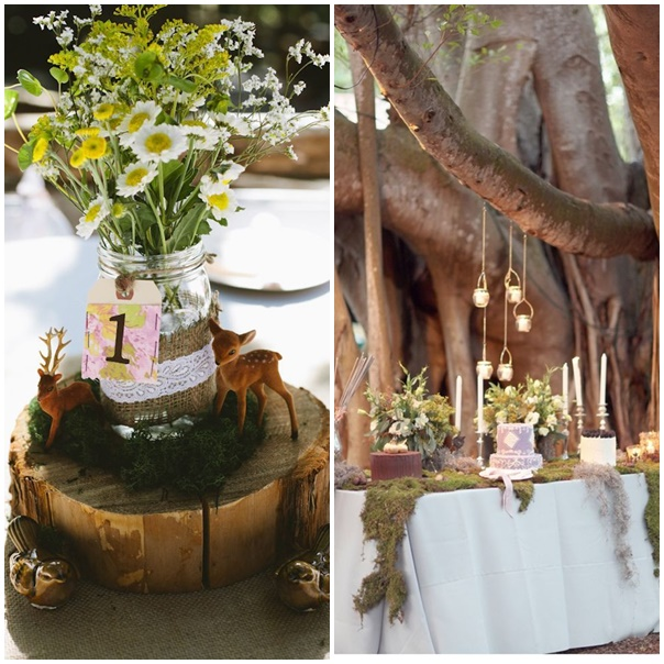 montage decoration mariage foret