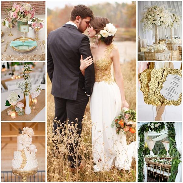 un mariage de princesse en blanc et dor