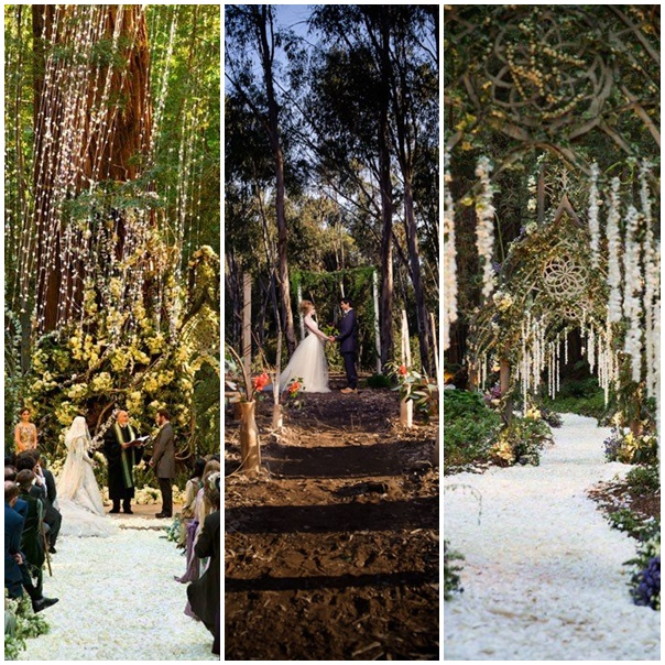 montage mariage foret