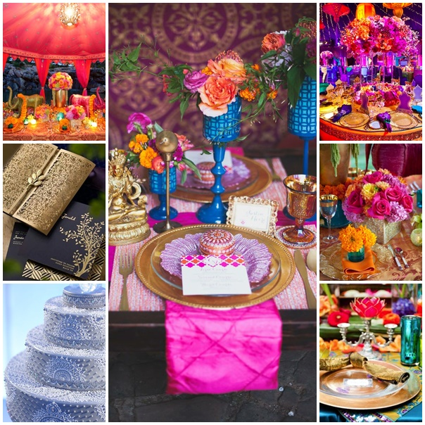 decoration table mariage hindou