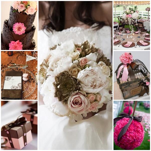 montage mariage theme chocolat framboise
