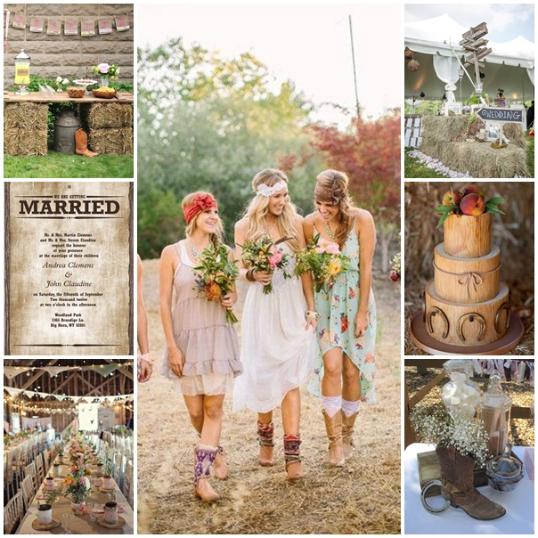 montage mariage theme country