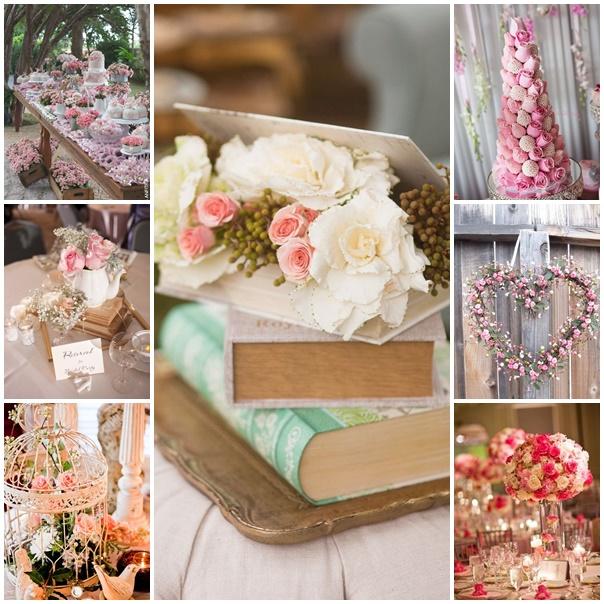 montage mariage theme roses