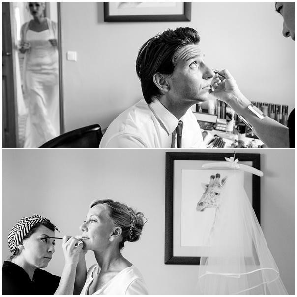 montage mise en beaute mariage retro chic
