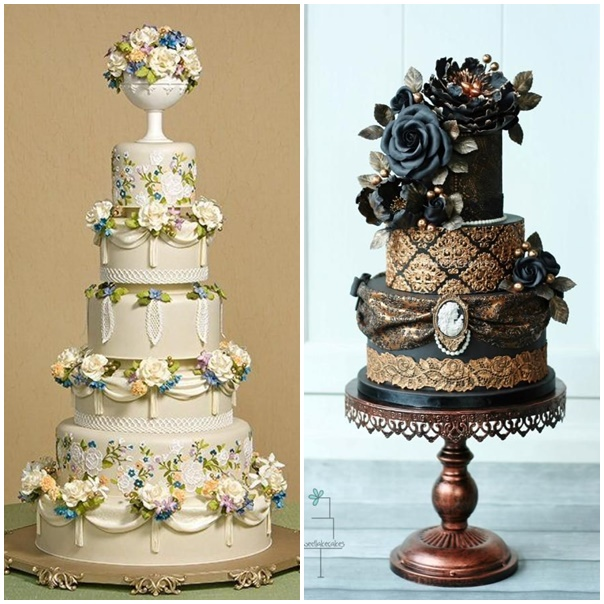 montage wedding cake victorien