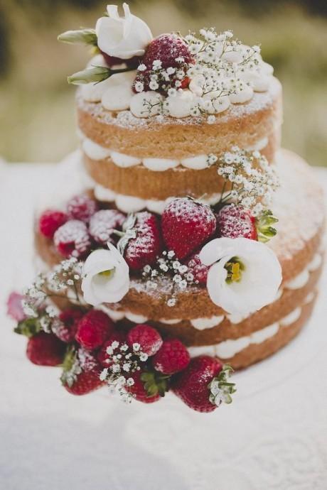 naked wedding cake tendance gâteau de mariage tendance mariage 2015