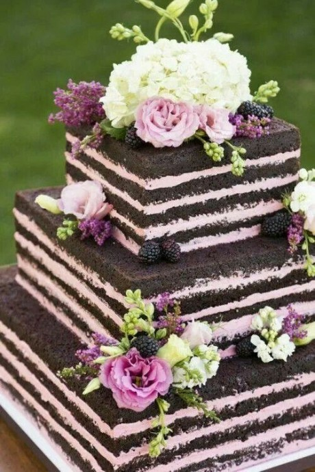 naked wedding cake 3