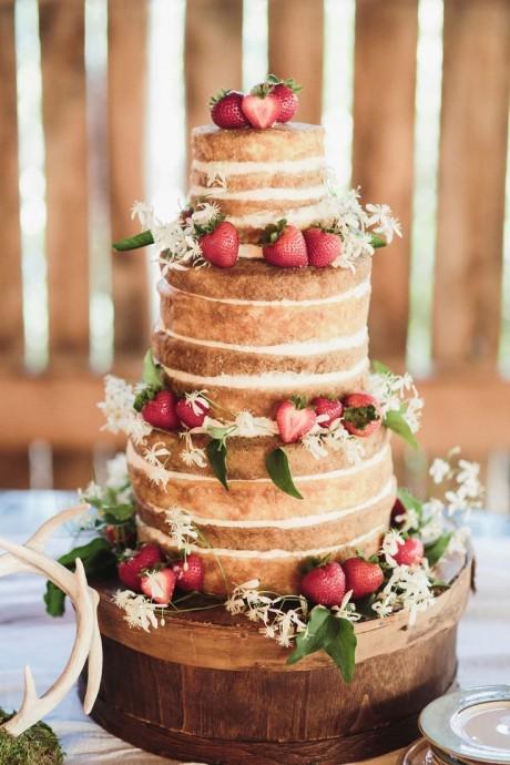 naked wedding cake pour un mariage