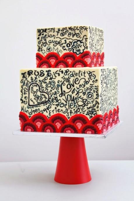 wedding cake graffitis