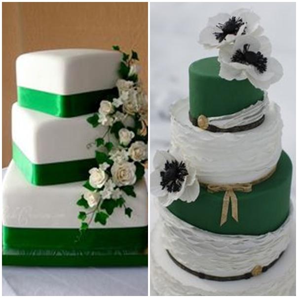 Wedding Cake Mariage Blanc Et Vert