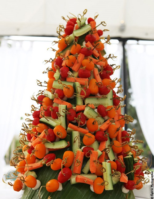 Comment r aliser un mariage v g tarien qui plaise aux for Decoration de plat avec des legumes