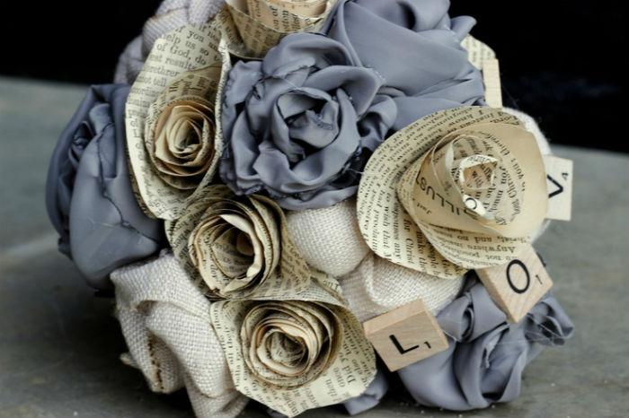 Bouquet de mariee papier 1