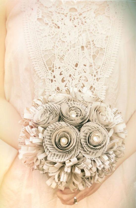 Bouquet de mariee papier 2