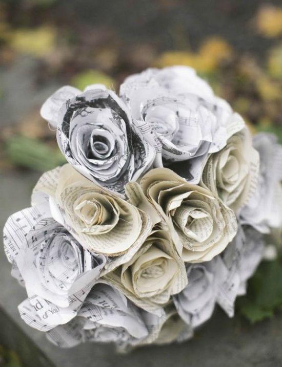 Bouquet de mariee papier 8