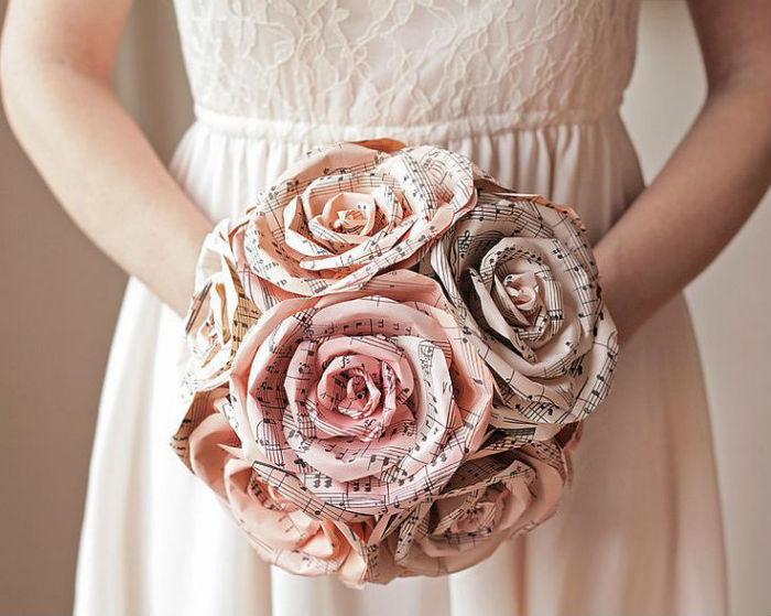 Bouquet de mariee papier 9