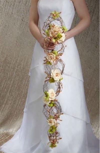 Bouquet de mariee long