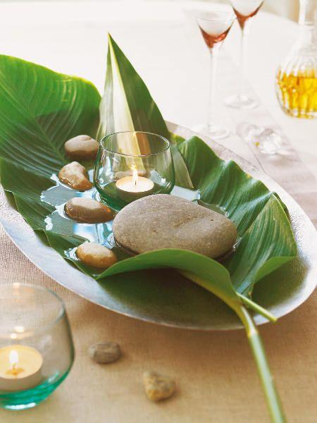 Centre de table mariage zen