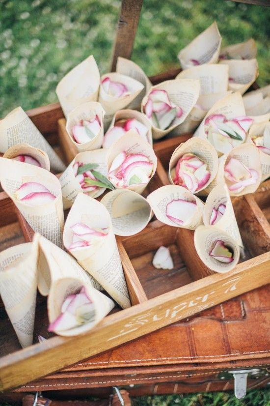 Cornet de fleurs papier 3