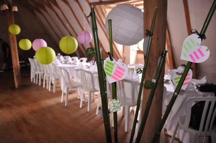Décoration de salle mariage zen