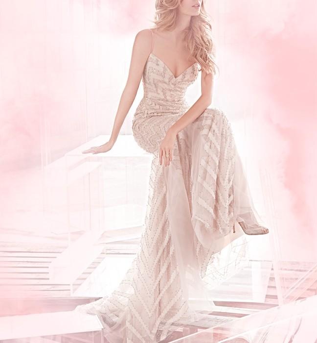 haley paige robe de mariee rose poudre 2015. Black Bedroom Furniture Sets. Home Design Ideas