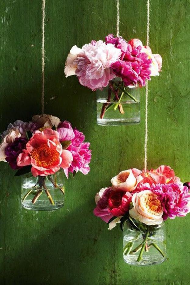Petits pots en verre fleurs 6