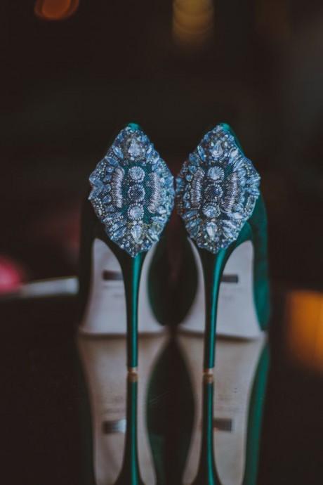 chaussures mariee vert emeraude - 45 Ans De Mariage Pierre Precieuse