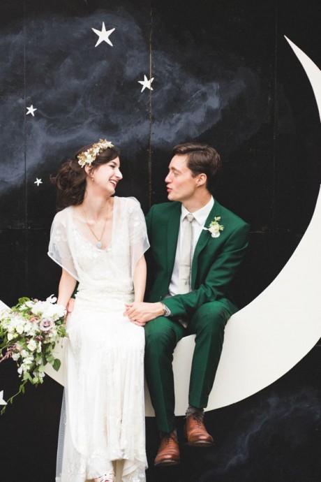 couple mariage couleur emeraude