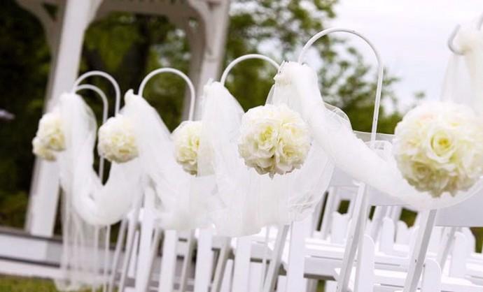 Mon mariage tout en blanc for Decoration ceremonie