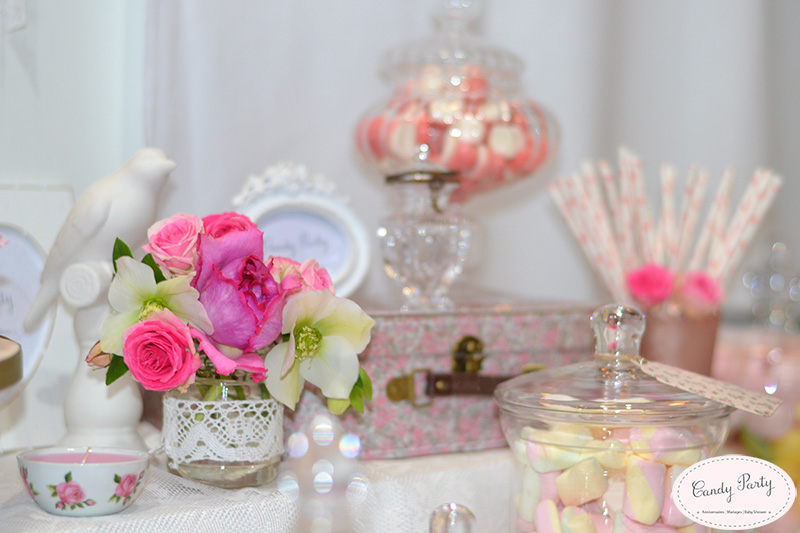 decoration de la sweet table mariage shabby chic