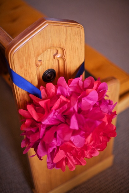 decoration florale mariage navy pink