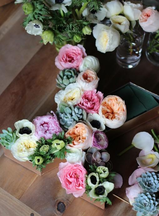 Diy on fleurie des lettres pour d corer son mariage - Decoration mariage diy ...